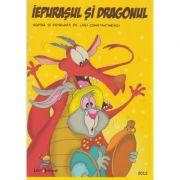Iepurasul si dragonul - carte de citit si colorat
