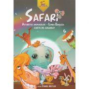 SAFARI. Alfabetul animalelor - Limba Engleza. Carte de colorat